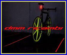 Fanalino posteriore a 5 led + 2 led puntatori laser Bici MTB BDC Bicicletta luce