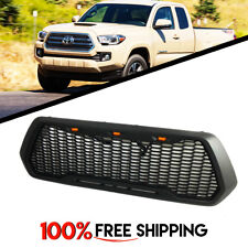 Toyota Tacoma Front Grille Raptor Style Mesh Matte Black W/LED fit year 16 17 18