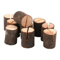 W2Q8 10pcs Wooden Wedding Name Place Card Holders Home Decor P5B6