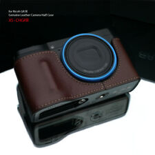 GARIZ HG-GRIIIBR Leather Half case for Ricoh GR III Brown