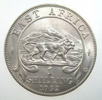 East Africa 1 Shilling 1952 AU Sharp British Lion Tanzania Kenya 28i# Money Coin