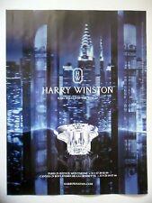 PUBLICITE-ADVERTISING :  HARRY WINSTON New York  2016 Joaillerie,Bijoux,Bagues