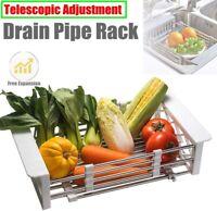 Kitchen Shelf Rack Drying Drain Storage Holders Plate Dish Retractable