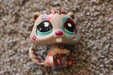 Littlest Pet Shop Beaver LPS Toy Tattoo Postcard Brown Teal Eyes Animal Hasbro