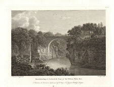 the seats of nobility & gentry 1787 -1815 engraving - barskimming - scotland