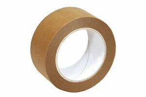 6 Rollen Papierklebeband 50M x 50mm 135µ Papier Klebeband Paketband Packband