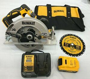 Dewalt DCS570P1 7-1/4 Cordless Circular Saw Kit wth Brake 20v Brushless N