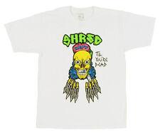 New Mens Neff Dead Shred Short Sleeve T-Shirt Large White Shred Til You're Dead