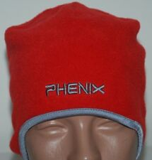 0ad93db58d8c9c PHENIX SKI HAT CAP BEANIE SKULL VINTAGE FLEECE RED EAR FLAP FITTED ONE SIZE