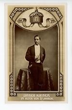 Unser Kaiser at the Age of 22 Antique RPPC Photo Fotokarte AK Royalty Oranotypie