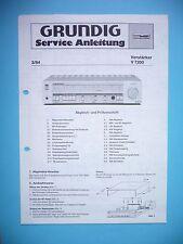 Service Manual-Istruzioni per Grundig V 7200, ORIGINALE