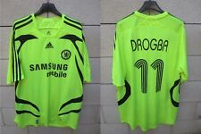 Maillot CHELSEA Champions League DROGBA n°11 shirt ADIDAS 2007 vintage trikot XL