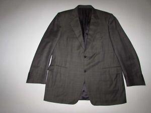 Canali Men's 2 Button Suit Jacket Size 46 Long 100% Wool Blazer Sports Coat 46L