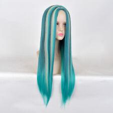 Descendants 2 Uma cosplay wig long blue hair teen kid children small little wigs