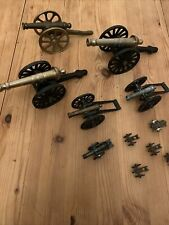 More details for job lot of brass cannons collection some vintage