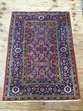 Vintage Beautiful Oriental Hand Woven  Fish Design Rug