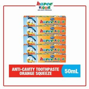 Hapee Kiddie Anti-Cavity Toothpaste Orange Squeeze(Set of 5)
