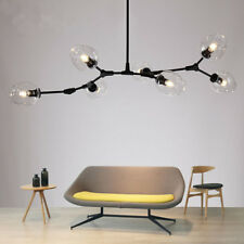 Large Chandelier Lighting Glass Pendant Light Kitchen Lamp Black Ceiling Lights