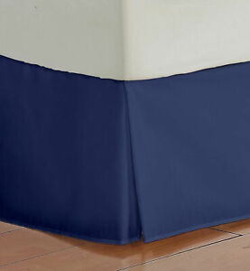 1000 TC Egyptian Cotton Navy Solid Bed Skirt Select Drop Length All US Sizes