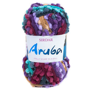 Sirdar Aruba Scarf Yarn 100g One ball knits one scarf! DISCONTINUED