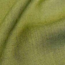 oliv grün Kleider-LEINEN Mittelalter Leinen-Stoff Meterware Hose Rock Tolko