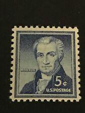 Scott 1038- MNH- 5c James Monroe- Liberty Series, 1954- unused mint stamp