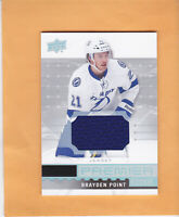 2016 17 UPPER DECK PREMIER ROOKIES JERSEYS #R-29 BRAYDEN POINT LIGHTNING