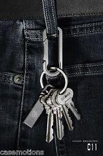Mas Design Premium Grade 5 Titanium Key Carabiner - C11Hand Brushed Finish