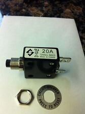 Sang Mao 20 amp push to reset breaker  A-0701 125/250V AC  50V DC 20A