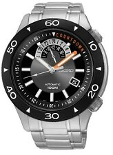 Seiko Superior SSA183 Men's Stainless Steel 24 Jewels Black Dial Automatic Watch