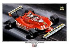 POSTER ARTWORK PRINT / DESSINS F1 PORTFOLIO - 20 CHAMPIONS DU MONDE by CLOVIS