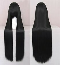 New Fashion Heat Resistant w/ Bangs Womens Girls Long Straight Cosplay Full Wigs