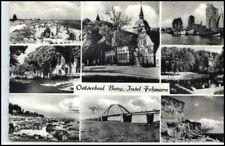FEHMARN ~1955/60 Mehrbild-AK 8 Ansichten Ort BURG Ansichtskarte Postkarte