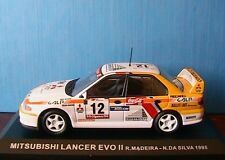 MITSUBISHI LANCER EVO II #12 MADEIRA DA SILVA RALLYE PORTUGAL 1995 IXO 1/43