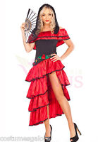 Ladies Costume Fancy Dress Up Flamenco Latin Dancer (114) Sz 6,8,10,12,14,16