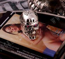 Handmade Nice 925 Sterling Silver T800 Terminator Salvation Skull Ring Size R