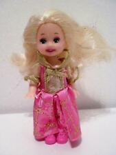 Vintage Barbie Doll Little Sister Kelly Princess Pink Dress Dressed Doll 1994