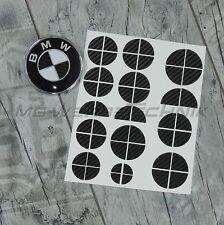 BMW Insignia Emblema Pegatina Esquinas 1 2 3 4 M3 X1 X3 X4 X5 negro carbono