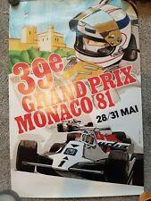 Original 1981 Monaco Grand Prix F1 poster