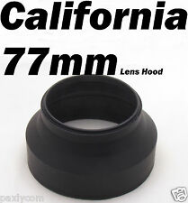 77mm 3 Stage Collapsible Rubber Lens Hood Canon Nikon Sony Sigma Pentax Cam