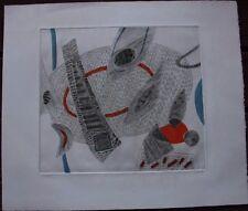 Gravure etching de Henri GOETZ signée numérotée N&B avec rehauts gouache **