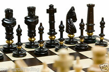 HUGE ''ROYAL LUX'' EXCLUSIVE WOODEN CHESS SET 65x65cm!!! CARVED - BRASS RINGS!!!