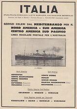 Z5356 Transatlantico Roma - Flotte Riunite Italia - Pubblicità d'epoca - 1932 ad