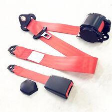 Universal 3 Punkt Rot Sportgurte Sitz Gurt Automatik Auto KFZ Sicherheitsgurt 1x