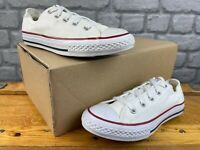 CONVERSE ALL STAR LOW WHITE CANVAS TRAINERS VARIOUS SIZES CASUAL CHILDRENS C