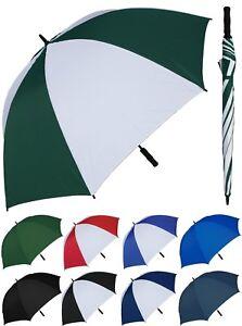 "Lot of 12 - Huge 68"" Arc, Fiberglass Golf Umbrella - RainStoppers Rain/Sun UV"