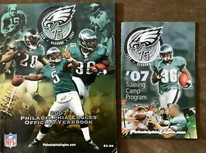 Philadelphia Eagles 2007 NFL Yearbook 75th Anniversary AND Training Camp Program