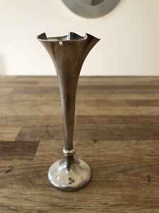 Antique Silver Trumpet Bud Vase Birmingham 1907