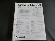 Original Service Manual Panasonic SA-AK45