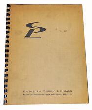 Promecam Model RG, Hydraulic Press Brake, Install Operation & Maintenance Manual